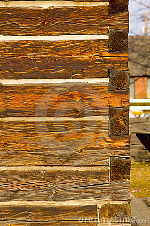 Free Portrait Photo Of Antique Square Log Construction Stock Photography - 18146702