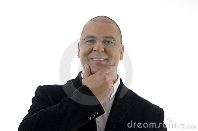 Portrait of pleased businessman