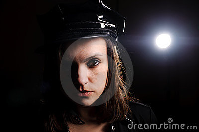 Portrait of police officer uniform