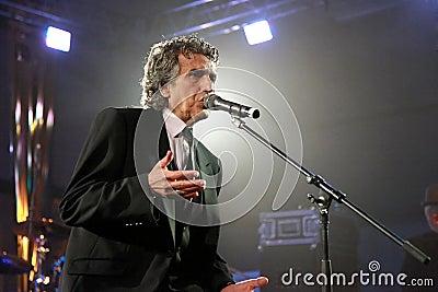 Portrait of the popular Italian composer Toto Cutugno . Photo ta