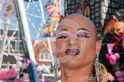 Portrait of a posing drag queen Editorial Image