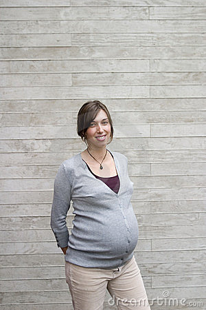 Portrait of pregnant woman
