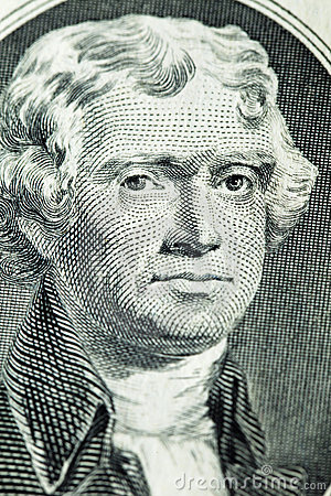Portrait of president Thomas Jefferson