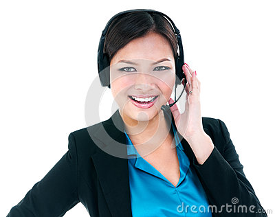 Pretty Businesswoman With Headset