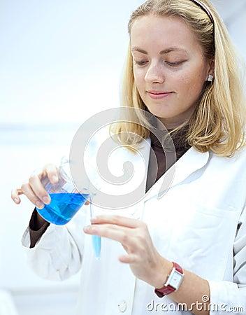 Portrait of a pretty female researcher