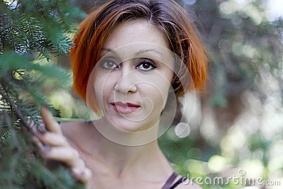 Portrait of pretty redhead girl
