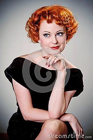 Retro portrait of vintage beauty