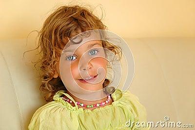 Portrait pretty small girl