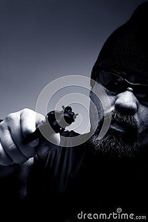 Portrait of a professional assassin