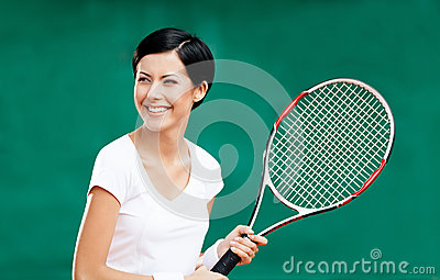 Portrait of professional female player