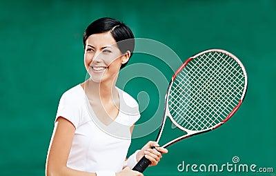 Portrait of professional female player