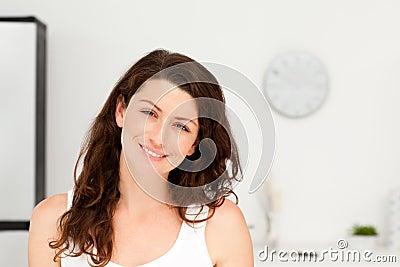 Portrait of a radiant woman in pyjama