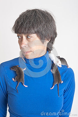 Portrait with rats
