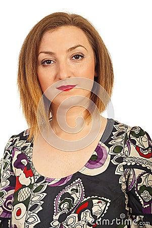 Portrait of redhair woman