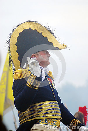 Portrait of a reenactor gesturing Editorial Stock Photo