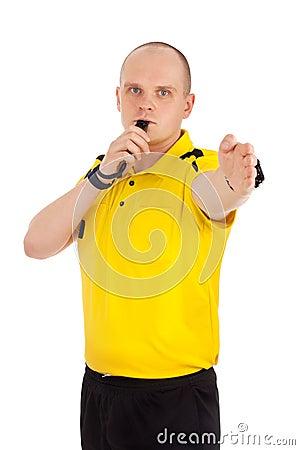 Portrait of a referee.