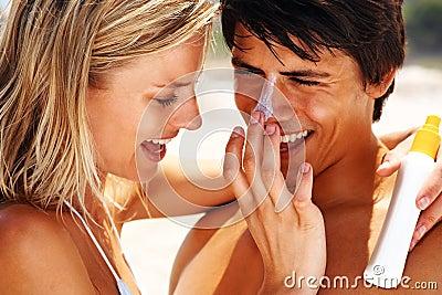 Portrait of a romantic couple lost in love
