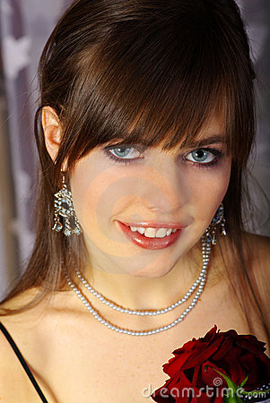 Portrait romantic woman