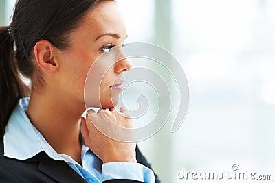 Portrait of a sad businesswoman