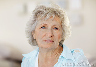 Portrait of a sad senior woman