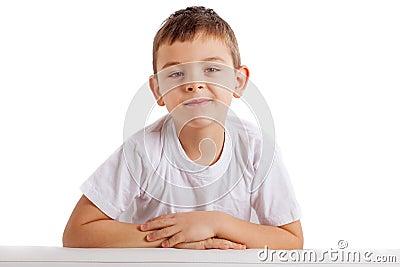 Portrait of school boy