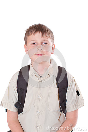 Portrait Of A Schoolboy Stock Photo - Image: 28336400