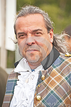 Portrait of Scotsman at Braemar Gathering Editorial Stock Image