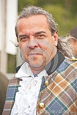 Portrait of Scotsman at Braemar Gathering Editorial Stock Image
