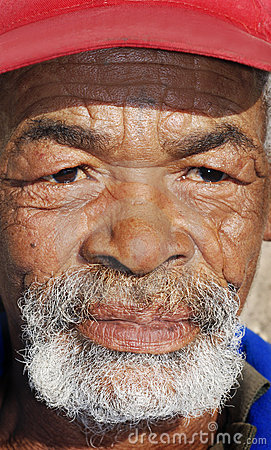 Portrait of an senior African man