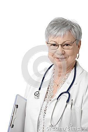 Portrait of senior general practitioner