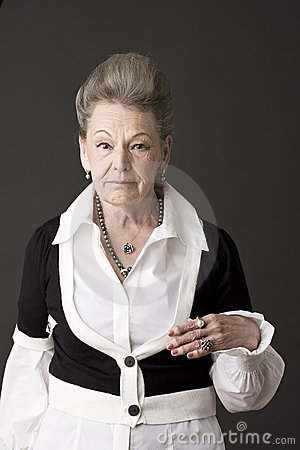 Portrait of a senior lady