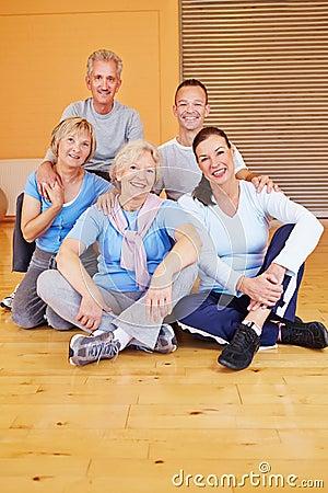 Portrait of senior people group