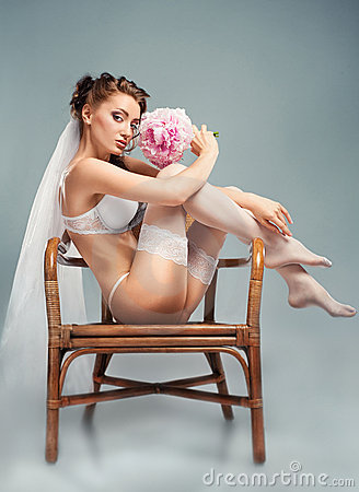 Portrait of a sensual bride