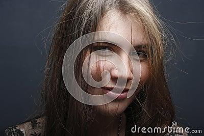 Portrait of sensual woman