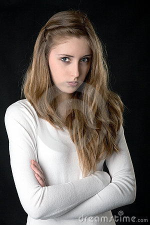 Portrait of the serious girl