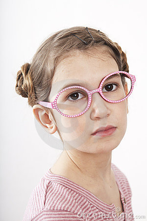 Portrait of serious little girl
