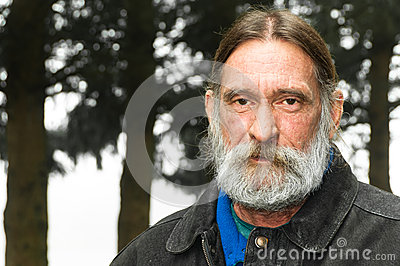 Portrait Serious Rugged Middle Aged Man