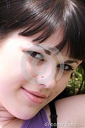 Portrait sexual brunette
