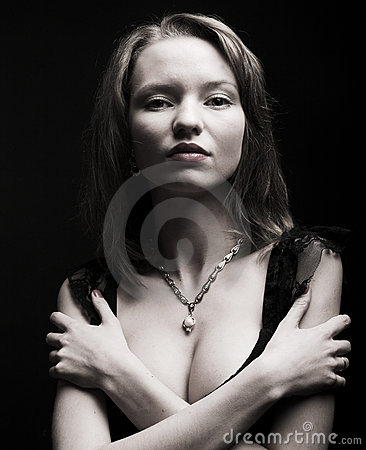 Portrait of sexy mysterious woman
