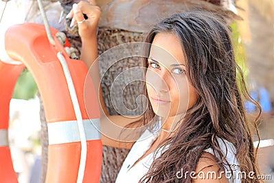 Portrait of sexy woman with bikini