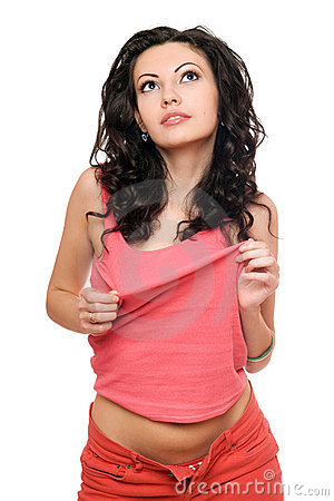 Portrait Of Sexy Young Brunette. Isolated Stock Images - Image: 18077844