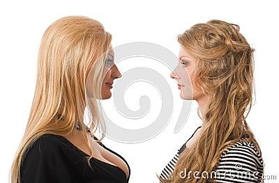Portrait of similar sisters