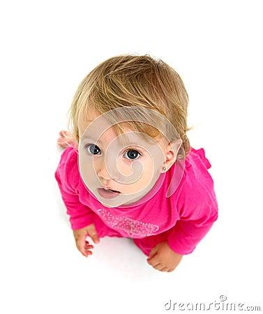 Portrait of a sitting little girl