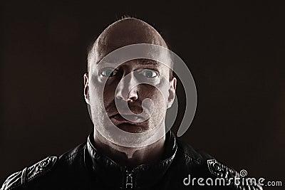 Portrait skinhead dark
