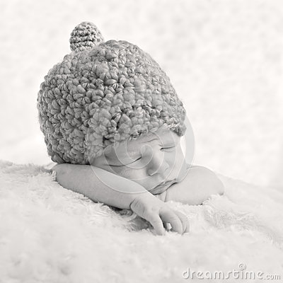 Portrait of a sleeping newborn baby