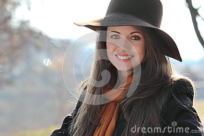Portrait of a smiling beautiful girl