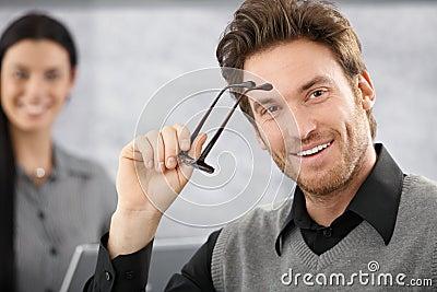 Portrait of smiling businessman Stock Photo