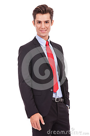 Portrait of a smiling confident business man