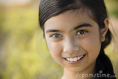 Portrait of Smiling Girl