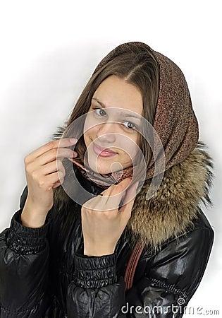Portrait of smiling girl in headscarf - Earnings